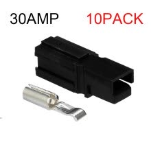 -10 Pack 30Amp  Plug Power Pole Electrical Charger Battery Connector on JD