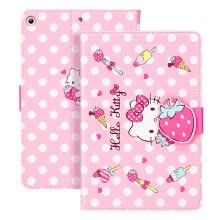 -Hello Kitty ipad 10.2 protective sleeve 2019 new 7th generation 10.2 inch Apple tablet shell cartoon buckle anti-fall all-inclusive sleep bracket leather case strawberry Hello Kitty on JD