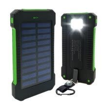power-banks-50000mAh Dual-USB Waterproof Solar Power Bank Portable LED LCD Compass Battery Charger on JD