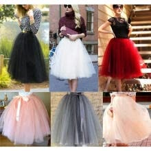 -Fashion New 7 Layer Tulle Skirt Womens Vintage Dress 50s Rockabilly Tutu Petticoat Ball Gown on JD