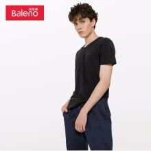 -Baleno T-shirt male 2019 summer cotton V-neck short-sleeved shirt loose bottoming shirt male 88902701 01W S on JD