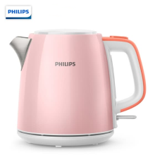 -[Gifts] Philips (PHILIPS) Electric Kettle Kettle Electric Kettle 304 Stainless Steel Anti-Drying HD9348 1L Mini Kettle Pink on JD