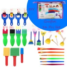 -Tailored 26 PCS  Creative Set Kids Early Learning Sponge Painting DIY Graffit Brushes Set on JD