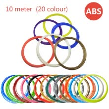 printers-ABS consumable filament 3D printer consumptive material 10 meter ABS material (20 colour) on JD