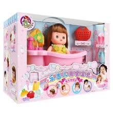 -Lucky children's simulation doll children's doll girl baby toys Happy bubble bath set birthday gift A053 on JD