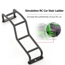 -RC Car Stairs Ladder Mini Metal Simulation 4-level Ladder Decorate for TAMIYA CC01 Pajero SCX10 on JD