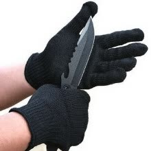 -1Pair Black Stainless Steel Wire Safety Works Anti-Slash Cut Resistance Glove on JD
