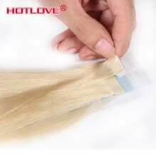 -Tape In Human Hair Extensions Natural Color #18 #22 #24 #60 #613 Brazilian Peruvian Indian Malaysian Skin Wefts Remy Hair 40g/lot on JD