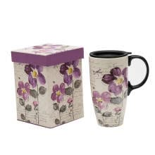 cups-A Ting Tall Ceramic Travel Mug 17 oz. Sealed Lid With Gift Box on JD