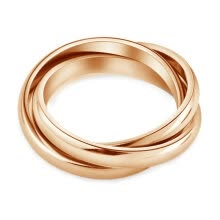 engagement-rings-Yoursfs® 18K Rose Gold Plated Triple Round Rings 2014 New Arrival Fashion Jewelry on JD