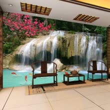 -Custom Mural Wallpaper 3D Non-woven Waterfall Landscape Wall Decorations Living Room Kitchen Pictures Modern Wallpaper For Walls on JD