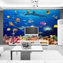 -Custom Photo Wallpaper 3D Underwater World Children's Room Mural Wall Decorations Living Room Bed Room Modern Wall Paper Rolls on JD