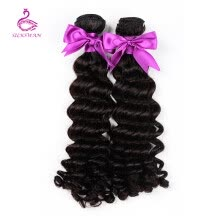 hair-bulk-Silkswan Hair Deep Wave Brazilian Hair Weave Bundle Remy Human Hair Weaving 12-28 Inch Machine Double Weft on JD