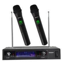 -Freeboss KV-8500 Dual Way 2 Handheld VHF Wireless Microphone with Screen for Party, Meeting, Karaoke Microphone System on JD