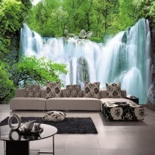 -Custom 3D Mural Wallpaper Non-woven Nature Scenery Wall Mural For Living Room Art Mural Wall Papers Home Decor Wallpaper Bedroom on JD