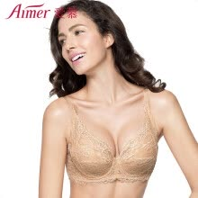-Love Aimer bra micro flower love 3/4 cup thin non-woven large size lingerie gathered close milk AM12JE1 color B75 on JD