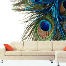 -3D photo wallpaper large mural wallpaper bedroom sofa TV background wall painting custom peacock feathers wallpaper on JD