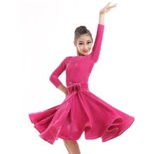 -Children Kids Long Gymnastics Latin Dancewear Competition Dancing Clothing Dance Costume Child Latin Dance Dress For Girls on JD