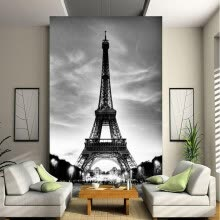 -Custom 3D Photo Wallpaper European Classic Architecture Eiffel Tower Wall Mural Living Room Entrance Backdrop Decor Wallpaper on JD