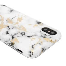 -For Apple iPhone X Marble Case, Slim Soft Flexible TPU Marble Pattern Cover [Support Wireless Charging] (2017 Release)(White Sierr on JD