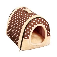 pet-beds-furniture-2 In 1 Pet House and Sofa, Machine Washable White Stars Pattern Non-slip Foldable Soft Warm Dog Cat Puppy Rabbit Pet Nest Cave Bed on JD