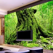 -Custom Photo Wall Paper 3D European Green Forest Trees 3D Nature Landscape Bedroom Living Room Sofa Backdrop 3D Wallpaper Murals on JD