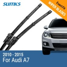 -SUMKS Wiper Blades for Audi A7 24'&20' Fit Slim Push Button Arms 2010 2011 2012 2013 2014 2015 on JD