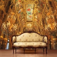 -Photo wallpaper European Court Palace mural wallpaper living room bedroom TV background wall wallpaper personality wallpaper on JD