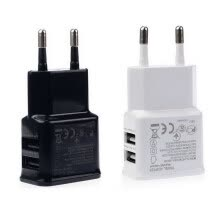 -)2A Dual 2Ports USB EU Wall Charger Adapter for Samsung iPhone HTC MOTO Perfect on JD