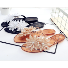 sandals-flip-flops-Simei summer mixed color candy shoes rivets female sandals exposed toe mule slippers home black and white punk style jelly plastic on JD