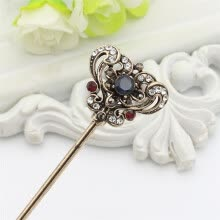 -Vintage Turkish Women Hollow Vines Flower Hair Clasp Resin Jewelry Retro Gold Color India Hair Sticks Arabia Bride Bun Hairpin on JD