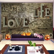 -Custom 3D Stereoscopic Photo Mural Wallpaper Retro Brick Pile Wall Living Room Sofa Backdrop Mural Wall Paper Home Improvement on JD