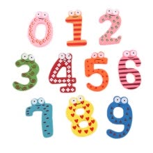 arts-crafts-NicerDicer New Cute Wooden Fridge Magnet Number 0-9 Kids Educational Toy MultiColor 95958 on JD