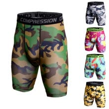 -3D Camo Compression Shorts Men 2018 Short Pants MMA High Elastic Skinny Leggings Bodybuilding Tights Men Fitness Sweat shorts on JD
