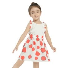 -Girls Dress 2018 New Arrival Casual Summer&Spring Sleeveless Petal Patchwork Dresses For Girl Cotton Loose A-Line Dress Hot on JD