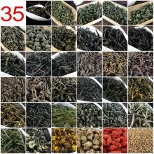 -35 Different Flavors Chinese Tea including Oolong Puer Black Green Herbal Flower Tea Food Gift 215g Chinese premium tea on JD