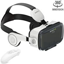 gaming-accessories-VR Headset Virtual Reality Goggles with Headphones and Remote Movie Games 3D Glasses fits Myopia  for Phones within 3.5-6.2 inches on JD