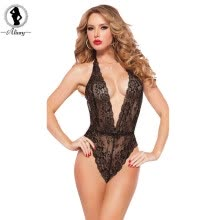 875061832-V-Neck Leotard Lingerie on JD