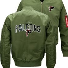 -FALCONS ATLANTA  New Dropshipping New Bomber Jacket Flying Jacket Winter thicken Warm Zipper Men Jackets Anime Men's Casual Coat on JD