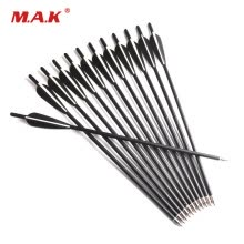 8750503-12 pcs Carbon Crossbow Arrow 17 Inches 2 Black 1 White Feather Diameter 8.8 mm for Archery Bow Hunting Shooting on JD