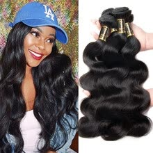 -YAVIDA Hair Indian Virgin Hair 4 Bundles Indian Body Wave Hair Bundles 7A Unprocessed Virgin Human Hair Extension on JD