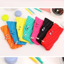 -Pencil Case Cute Solid Color Simple Pencil Bag Pencil Case Zipper Bag Stationery Pouch Pen Holder Cosmetic Makeup Tool Kawaii Bag on JD