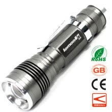 8750502-Zoom Mini LED Flashlight Work Light Pocket Clip Torch Penlight Waterproof 18650 Rechargeable Torch Zoomable Torchlight on JD