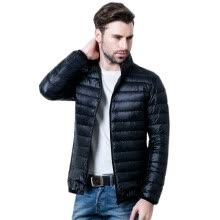 875061886-2015 Men's New Winter Jacket And Coat Plus Size Clothing Slim solid color advanced light down jacket on JD