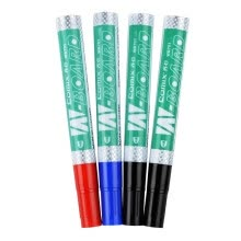 -(COMIX) 4 easy to wear whiteboard pen (2 black 1 red 1 blue) office stationery K7014 on JD