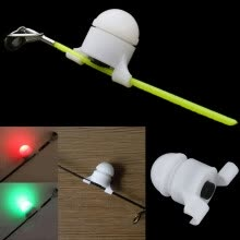 -2 in 1 LED Night Fishing Rod Tip Clip on Fish Strike Bite Alert Alarm Light on JD