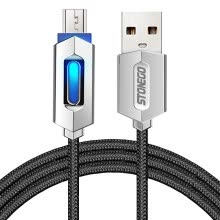 875061539-STONEGO Micro USB Charging Cable LED Connector Nylon Braided Tangle-Free Sync Charge USB Data Cable for Android Devices Adapter on JD