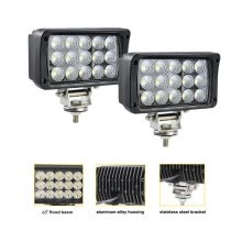 875063308-JAHURD Led work lights for truck, 1 PCS 6' inch Led light bar 45W 12v Flood Driving Fog Light+Flush Mount Brackets for Ford Jeep on JD
