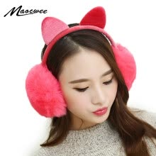 earmuffs-Winter Autumn Warm Faux Fur Ear Muffs Cute Cat Ear Earflap Rabbit Fur Earmuff for girls Ear flap Ladies Plush Ear muffs Women on JD