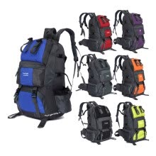 -Fashion Hot Sale 970g 50L Large Capacity Climbing Backpack Hiking Nylon Bag Camping Travel Day Pack Sports Colors FK0218 on JD